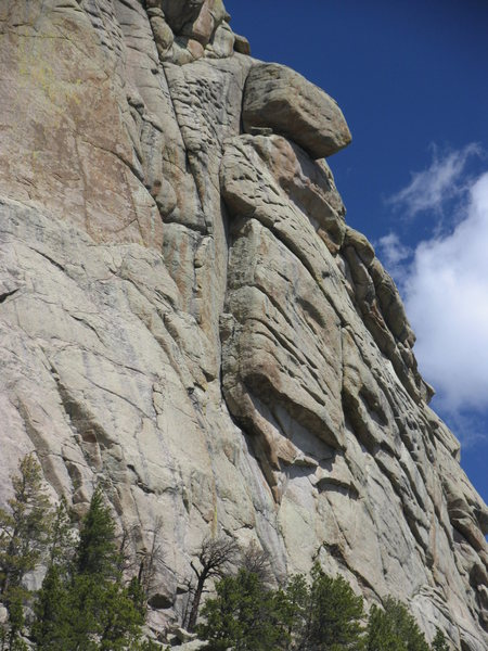 Rock Climbing Photo: The Wilford Line is thought to along the cracks of...