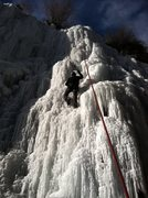 Rock Climbing Photo: Chris Underwood climbing on the upper flow, 12/15/...