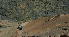 Rock Climbing Photo: Cody Blair on our first ground up free attempt of ...