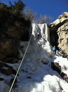 Rock Climbing Photo: Lower flow, WI3 conditions, 1/18/14.