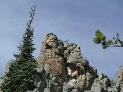 Rock Climbing Photo: On top the rocks of Moose Tooth Saddle