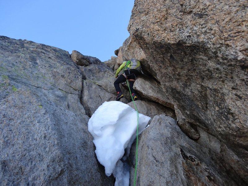 Beautiful day on Chamonix granite