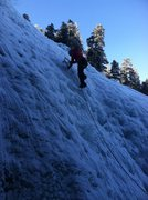 Rock Climbing Photo: Marie leading the main wall.