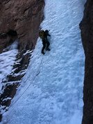 Rock Climbing Photo: Dylan Gibson leading the lower flow, 1/24/14.