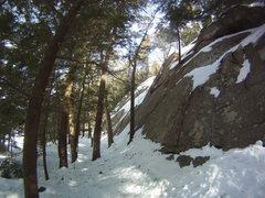 Rock Climbing Photo: Lower Slabs