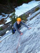 Rock Climbing Photo: Finishing the first pitch of the Rash