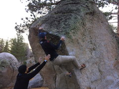 Rock Climbing Photo: Staying hooked around the corner makes the move fo...