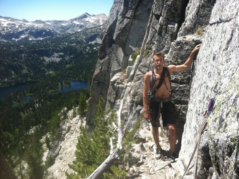 Rock Climbing Photo: Hurley at the top of the first or second pitch. La...