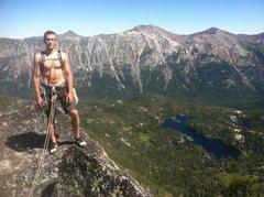 Rock Climbing Photo: Summit shot Hurley, looking east, horseshoe lake b...
