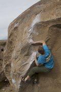 Rock Climbing Photo: Luke Lydiard on The Clapper, Happy Boulders, Bisho...