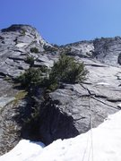 Rock Climbing Photo: Blueberry Butt starts at fist crack right of cente...