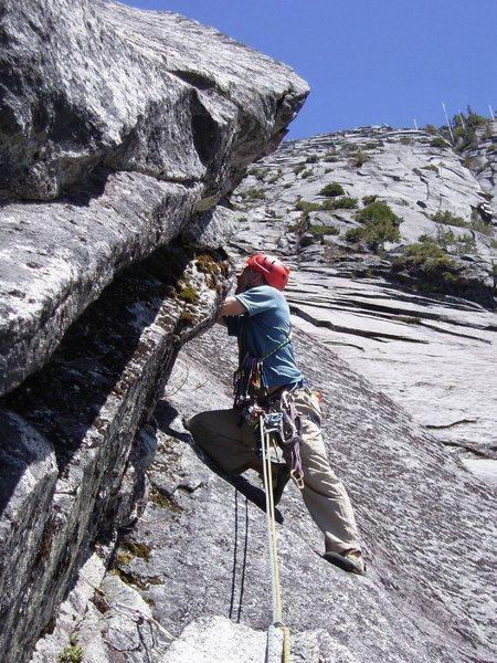 Rock Climbing Photo: Right-facing corner of pitch 4