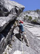 Rock Climbing Photo: Right-facing corner of pitch 4