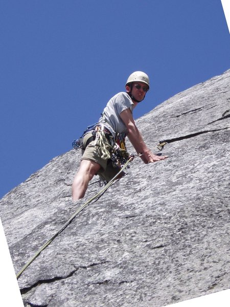 Clean and airy climbing on pitch 6