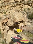 Rock Climbing Photo: Nick getting the 2-3 finger pocket on the edge of ...