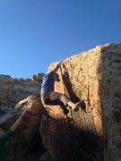 Rock Climbing Photo: Topping out on 3 Shades of Gray.