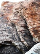 Rock Climbing Photo: Sunken Treasure with flake on the left and crack o...