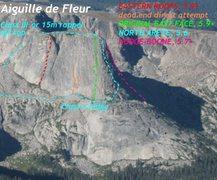 Rock Climbing Photo: Aiguille de Fleur from Mt. Alice.  Photo by Mounta...