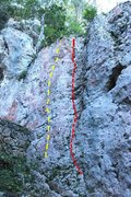Rock Climbing Photo: Probably line that is most fun of bolted routes. L...