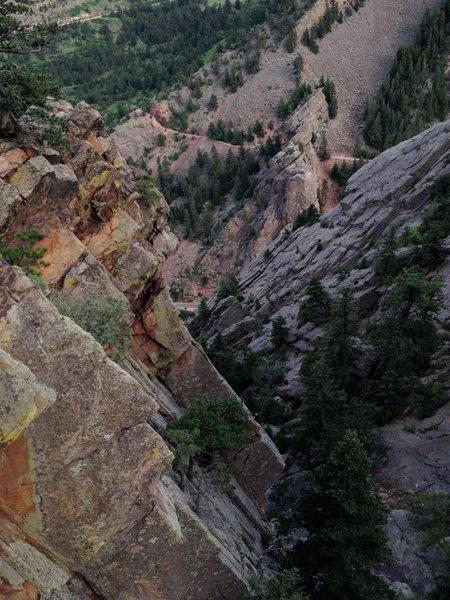 Rock Climbing Photo: Somewhere along Hawk-Eagle.
