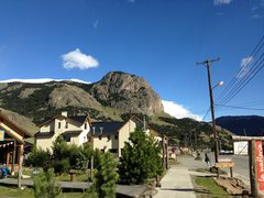 Rock Climbing Photo: Cerro Rosado from town