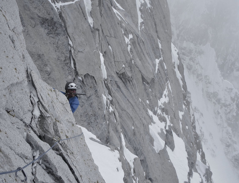 finishing seconding the nose pitch on the Harvard Route