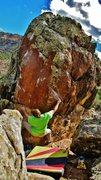 Rock Climbing Photo: Start beta of Egon Spengler.