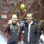 Rock Climbing Photo: Me and James after winning 1st and 3rd at Crank 6