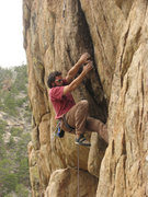 Rock Climbing Photo: Jeff Karl manages the start to Managaging  Tight L...
