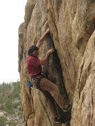 Rock Climbing Photo: Jeff Karl on Managing Tight Lips.
