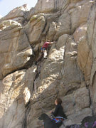 Rock Climbing Photo: Jeff Karl leads Movie Making with SoCal Hippy Chic...