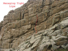 Rock Climbing Photo: Location of Managing Tight Lips.
