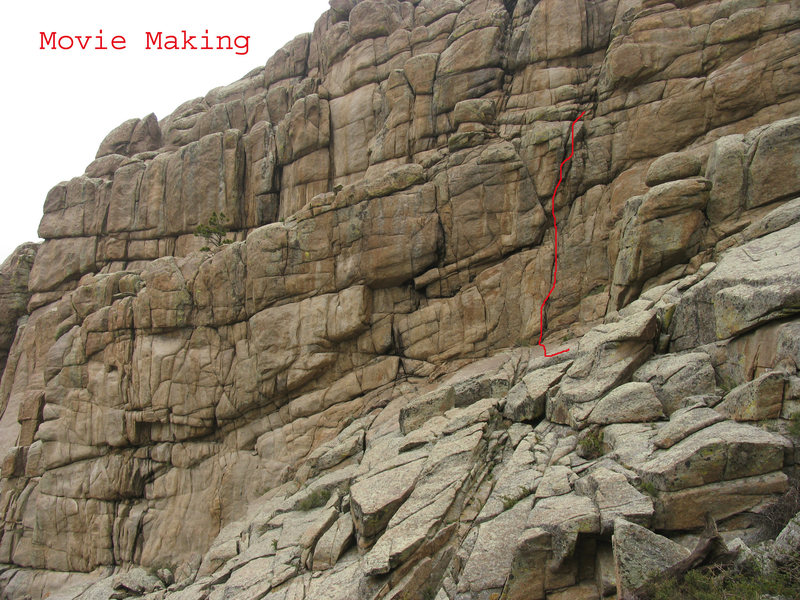 Rock Climbing Photo: Location of Movie Making
