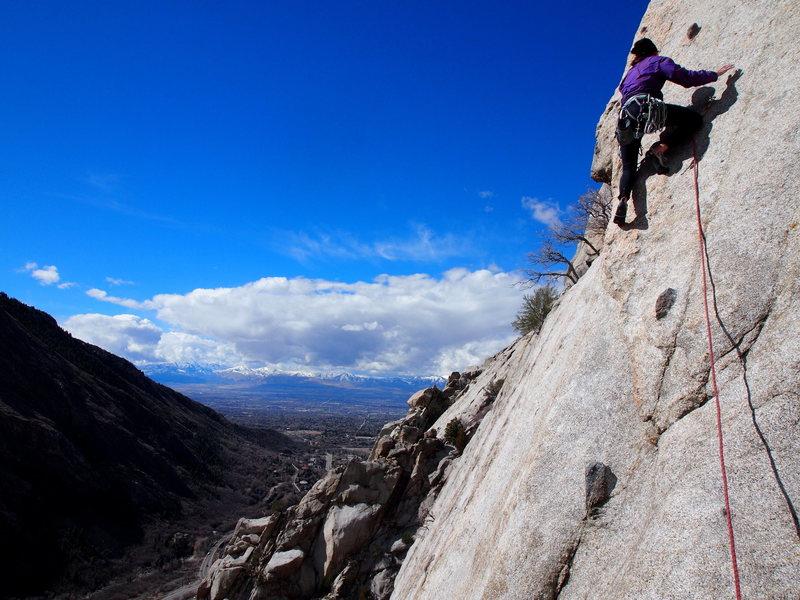 Rock Climbing Photo: Mandi C leading.