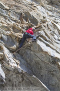 Rock Climbing Photo: Powering through the dihedrals of Satan's Alley.