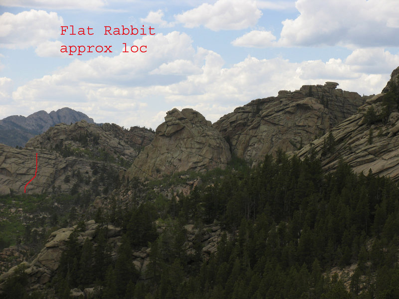 Approximate location of Flat Rabbit.