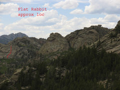 Rock Climbing Photo: Approximate location of Flat Rabbit.