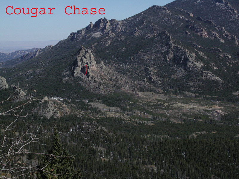 The line of Cougar Chase is on this SW prow.  Exit left at close out.