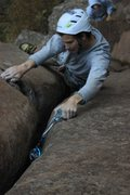 Rock Climbing Photo: #3's for days on this route. photo by Lindsey West...