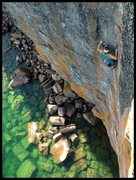 Rock Climbing Photo: Tony Young showing the great exposure Poseidon off...