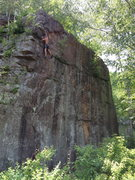 "Rock Climbing Photo: My Buddy Tom close to topping out. ( the ''X""..."