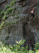 Rock Climbing Photo: Closer look at some features on the bottom section...