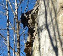 Rock Climbing Photo: Skinny jean highstep on King Kong 6b+