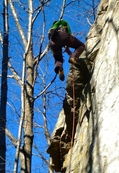 Rock Climbing Photo: Flying on King Kong 6b+