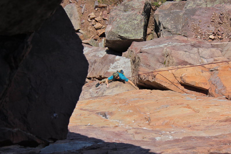 Rock Climbing Photo: The small lower corner takes a little thinking.