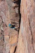 Rock Climbing Photo: Half way point.