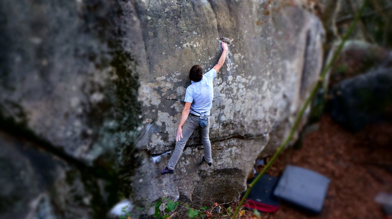 Rock Climbing Photo: Some dude flashing Heroin.