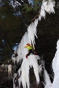 Rock Climbing Photo: Miron enjoying unique lines in fat conditions, Jan...