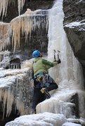 Rock Climbing Photo: Peter launching up an aesthetic pillar, January 20...
