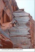 Rock Climbing Photo: splitter second pitch